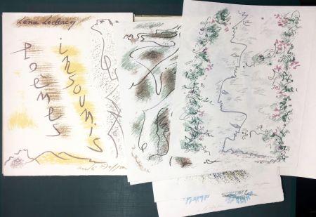 Libro Illustrato Masson - Léna Leclercq. POÈMES INSOUMIS. 10 lithographies signées (1963)