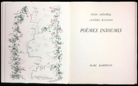 Libro Illustrato Masson - Léna Leclercq. POÈMES INSOUMIS. 8 lithographies en couleurs (1963)