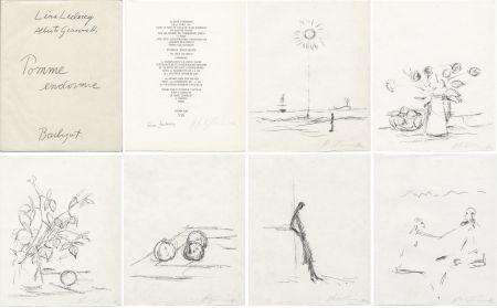 Libro Illustrato Giacometti - Léna Leclercq : POMME ENDORMIE. Lithographies originales signées d'Alberto Giacometti.