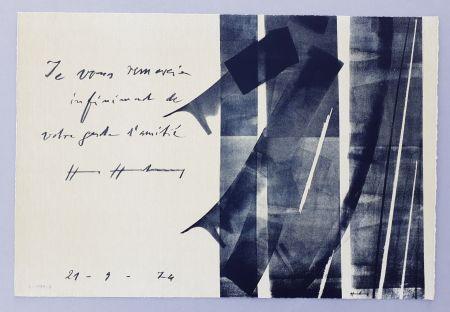 Litografia Hartung - L-1974-2