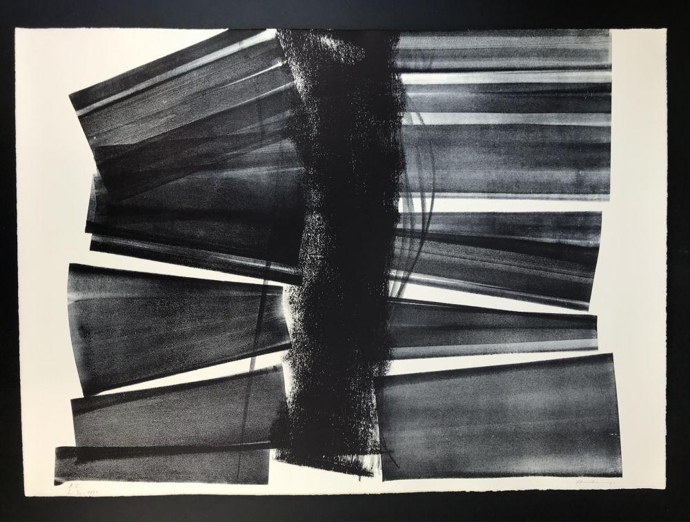 Litografia Hartung - L - 1974 - 21