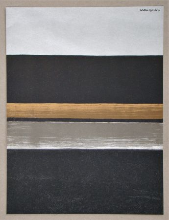 Litografia Bergmann - L 11 - 1970 Horizon noir