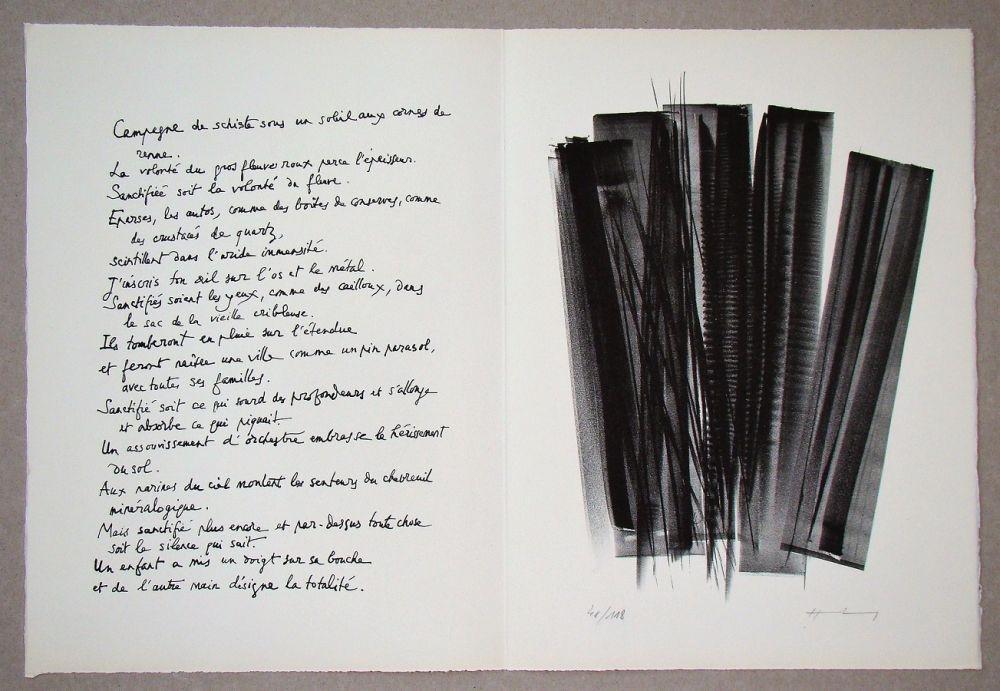 Litografia Hartung - L 162, 1965