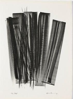 Litografia Hartung - L 162 (Jean Cassou: vingt-deux poèms)