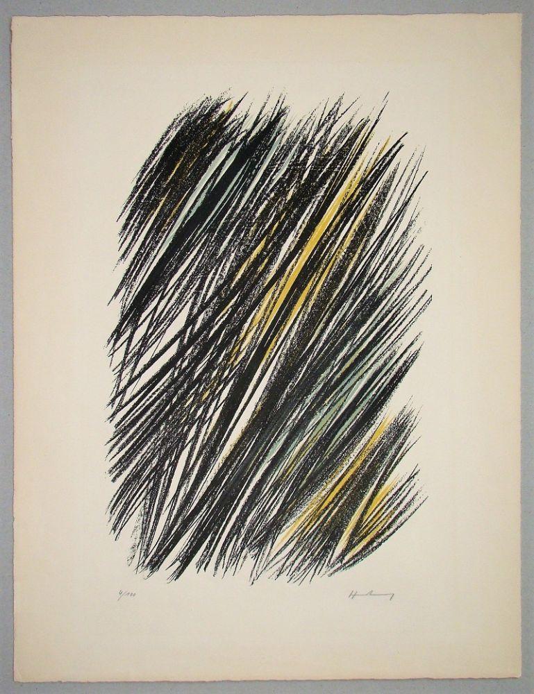 Litografia Hartung - L 19 - 1957