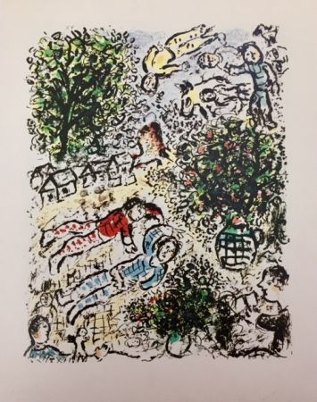 Litografia Chagall - L' Abre Vert, Mars