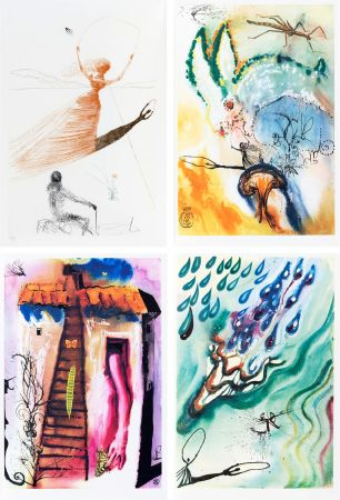 Libro Illustrato Dali - L. Carroll: ALICE IN WONDERLAND. 1 eau-forte et 12 bois et héliogravures en couleurs. Avec suite sur Japon nacré (1969).