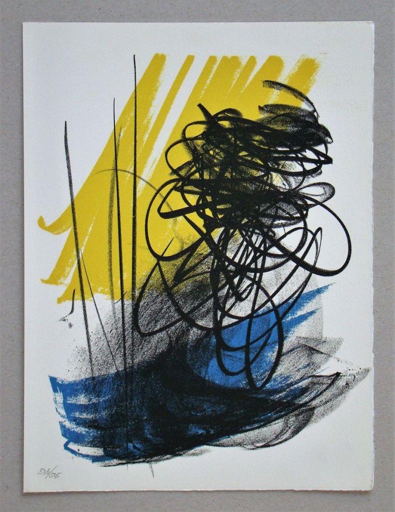 Litografia Hartung - L différée - 2, 1964