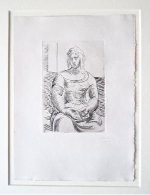 Incisione Picasso -  L' Italienne (s. ta130) Femme au Livre
