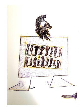Litografia Ernst - La Ballade du Soldat