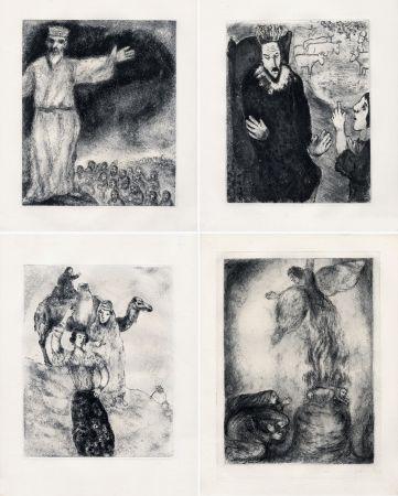 Acquaforte Chagall - LA BIBLE. (Suite des eaux-fortes gravées de 1931 à 1939 - Tériade 1956).