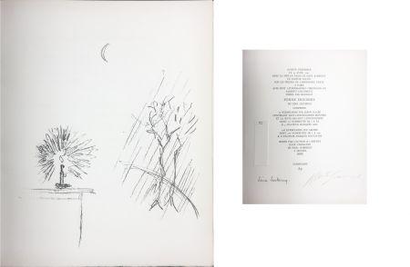 Litografia Giacometti - LA BOUGIE (The candle). 1961. Lithographie originale