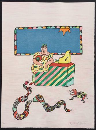 Litografia De Saint Phalle - La Caissiere (The Cashier)