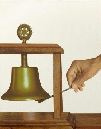 Serigrafia Pistoletto - La campana della solidarietà