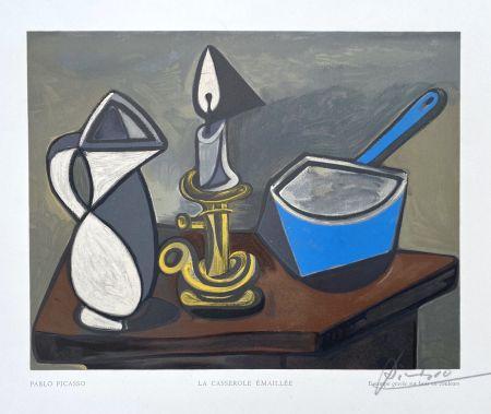 Incisione Su Legno Picasso (After) - La casserole émaillée