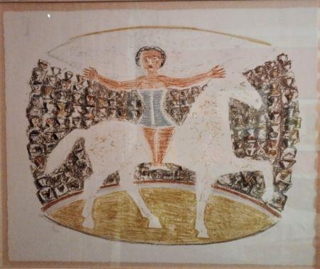 Litografia Campigli - La Cavallerizza