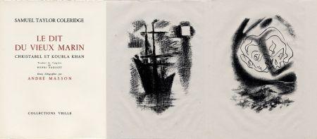 Libro Illustrato Masson - LA CHANSON DU VIEUX MARIN.24 lithographies originales.