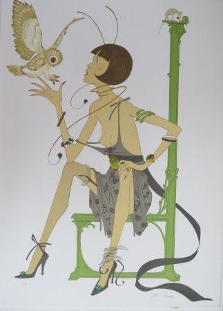 Litografia Noyer - La chouette