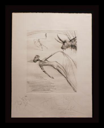 Incisione Dali - La Cogida y la Muerte with Original Drawing