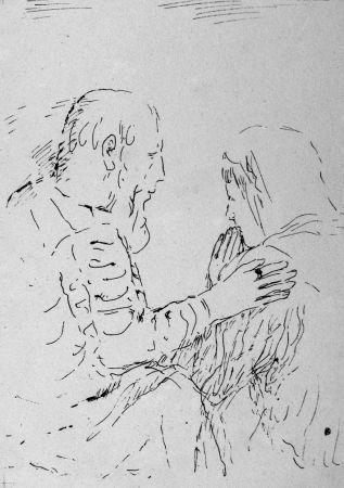 Litografia Bonnard - La confessione