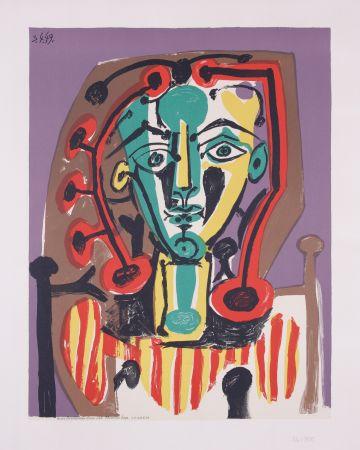 Litografia Picasso - La corsage Raye