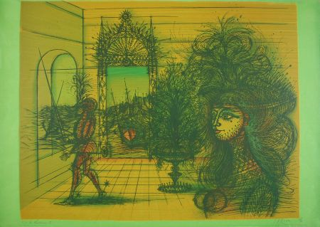 Litografia Carzou - La Courtisane II