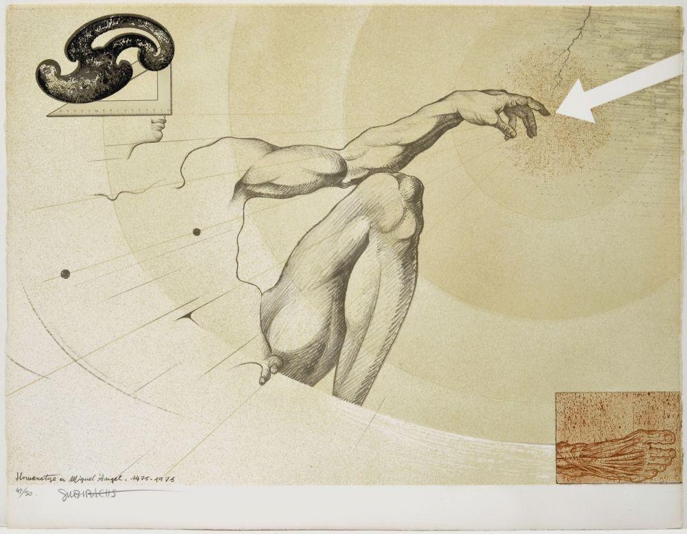 Litografia Subirachs - La creació de l'home