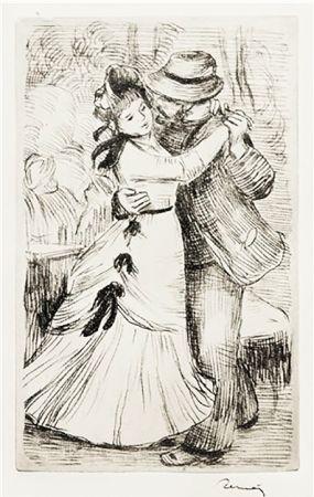 Incisione Renoir - LA DANSE À LA CAMPAGNE (1890)