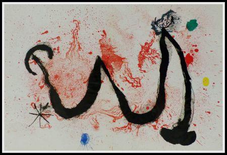 Litografia Miró (After) - LA DANSE DU FEU