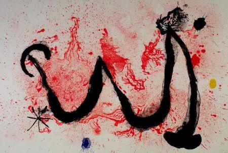 Litografia Miró - La danse du feu
