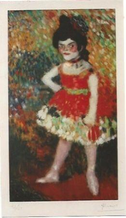 Litografia Picasso - La Danseuse Naine (La anana)
