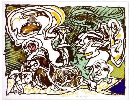 Litografia Alechinsky - La dernière coquille