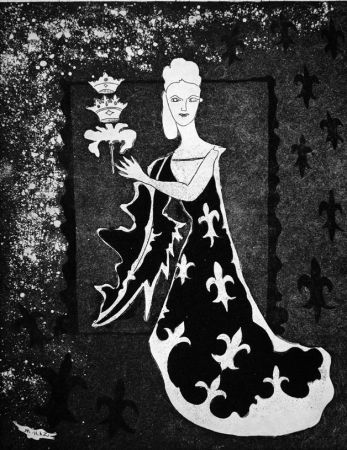 Acquaforte Haz - La duchessa di Guermantes
