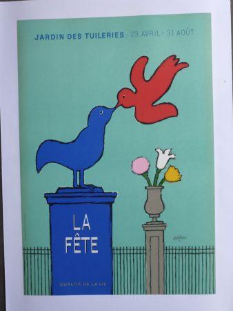 Manifesti Savignac - La fête au jardin des Tuileries