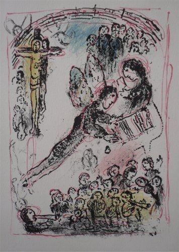 Litografia Chagall - La Feerie et le Royaume, planche 7
