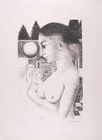 Litografia Delvaux - La Femme à la Boule
