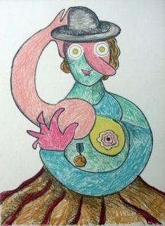Litografia Baj - La Femme Au Chapeau
