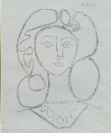Litografia Picasso - La Femme Au Collier