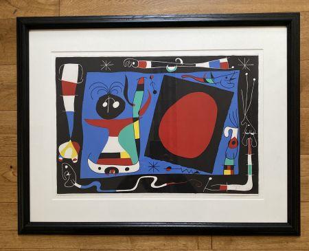 Litografia Miró - La Femme Au Miroir