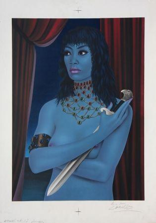 Litografia Labisse - La Femme avec un Couteau (BAT) - Woman with a Dagger