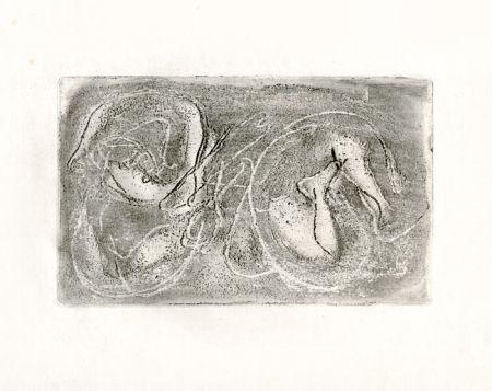 Acquaforte Fautrier - La femme morte (Fautrier l'enragé)