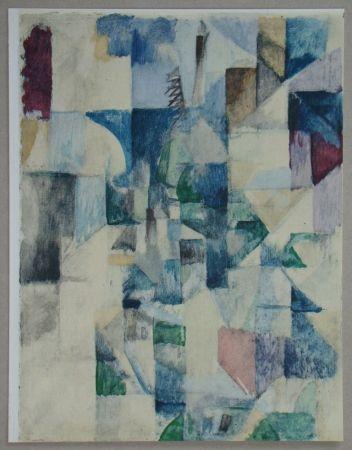 Pochoir Delaunay - La fenêtre n°2