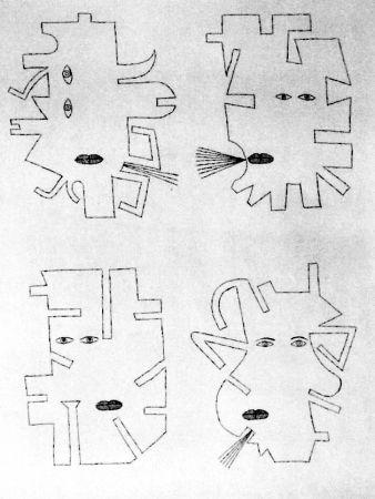 Acquaforte Brauner - La figure se mimetise à l'image de l'outil