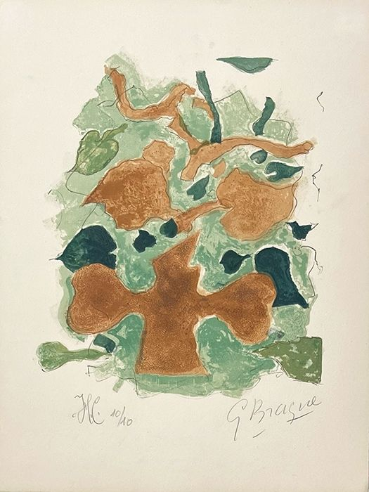 Litografia Braque - La forêt