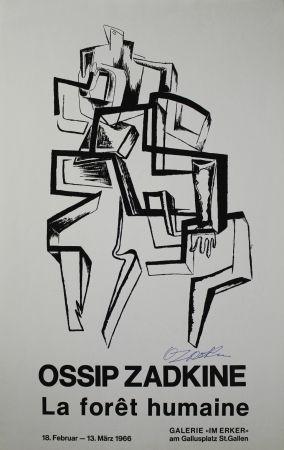 Litografia Zadkine - La forêt humaine