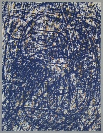 Litografia Ernst - La Foret bleue