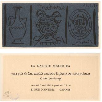 Linoincisione Picasso - La Galerie Madoura