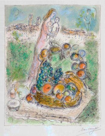 Litografia Chagall - La Grande Corbeille