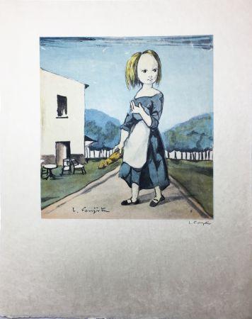 Litografia Foujita - La jeune fille au pain (1963)