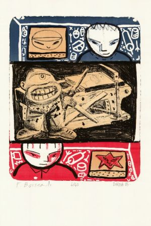 Litografia Di Rosa - La Leçon de lithographie